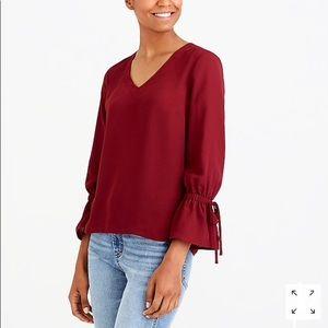 J.CREW Bow-Sleeve Mercantile blouse